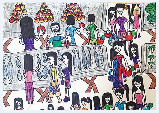 ⑧《热闹的集市》 六年级  樊晓筠