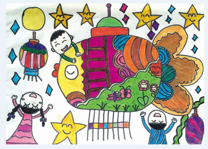 幼儿画花灯的简笔画