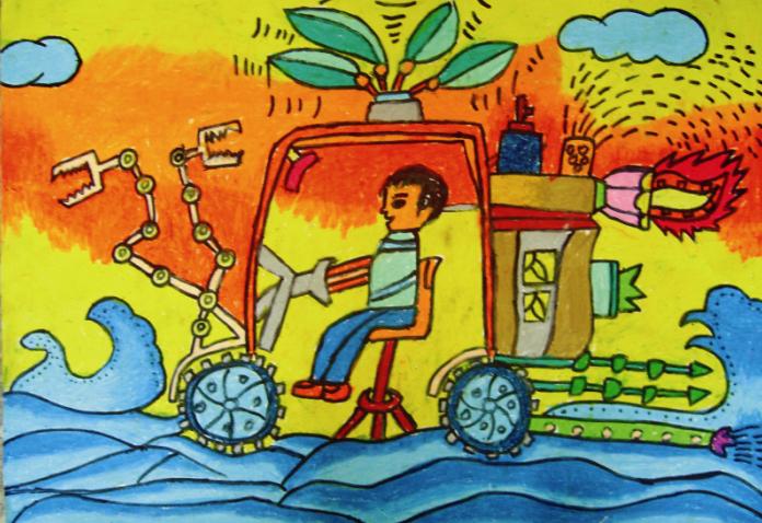 儿童手绘我的未来之城
