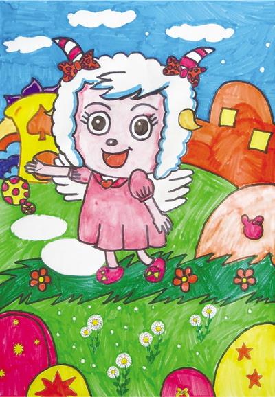 斓(lán)的儿童画