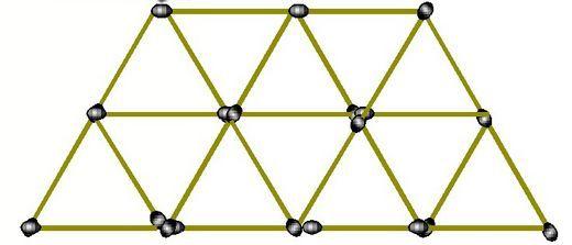 有12个小三角形的立体梯