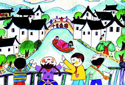 南京风景儿童画