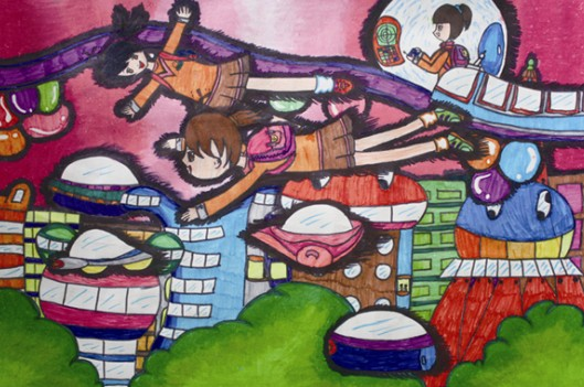 初三学生画房子的步骤