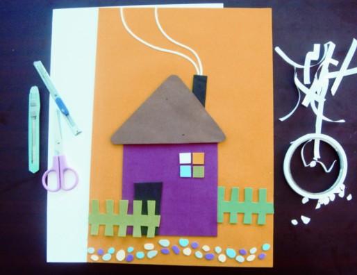 彩纸图形拼贴画彩纸拼贴画图片小班彩纸拼贴画; 手工拼贴画之美,不仅