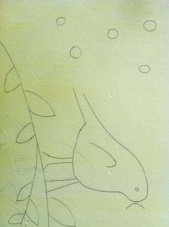教师牙签创意粘贴画