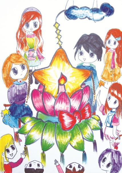 花灯节古风手绘