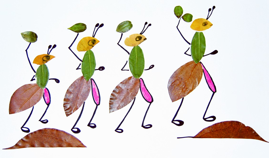 蚂蚁纸筒手工制作