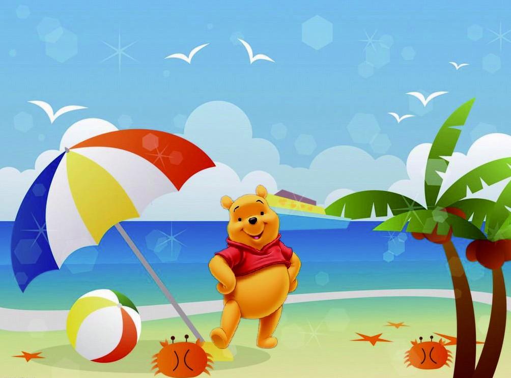 小熊维尼的海边度假梦