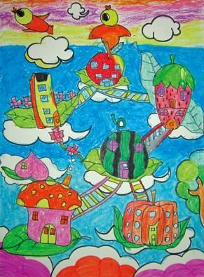 外国房子风景图片手绘