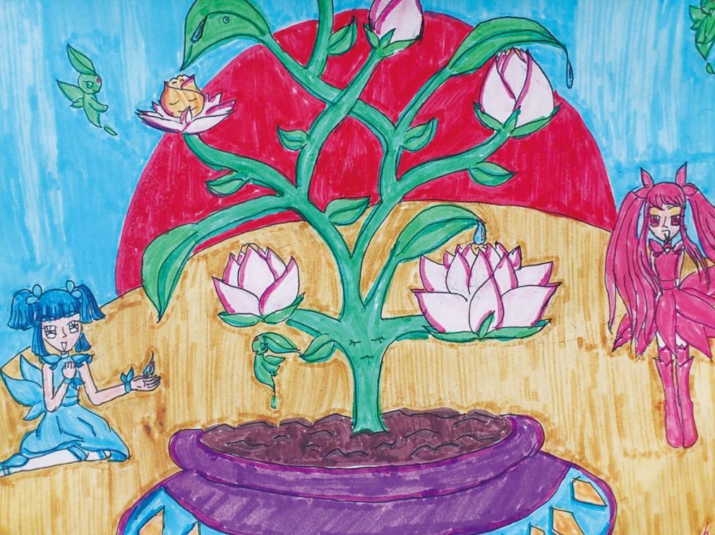 同学们,在这初夏的日光里,何不去户外、去大自然中寻找创作的灵感,感受书画的意境呢?赶快拿起你们的画笔,展现心底的浪漫,给这个充满活力的五月天增添色彩吧!  水果空间 常州市新北区罗溪中心小学二(2)班 江梦琳 指导教师:郝 妍  春天里 南京市江宁区铜山小学二(3)班 周 洲 指导教师:夏 云  千钧一发 张家港市东渡实验学校五(1)班 陆一帆 指导教师:张翠娥  少年强则国强 靖江市季市镇长安小学六(2)班 黄 祥 指导教师:史梦嘉  农家乐 宜兴市第二实验小学三(4)班 周冠一 指导教师:曹 颖  难